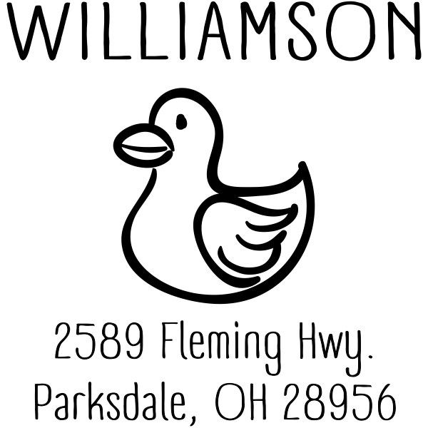 Rubber Ducky Address Stamp