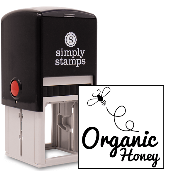 Organic Honey Bouncing Bee Rubber Stamp