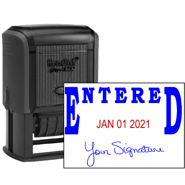 Entered Signature Date Office Stamp