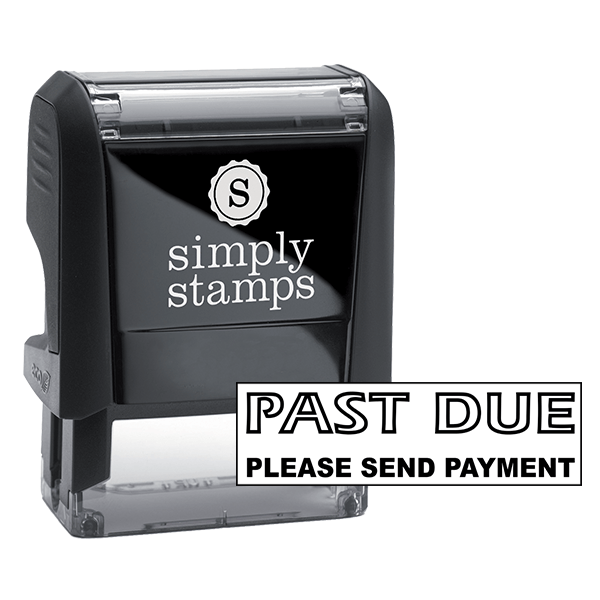 PAST DUE PLEASE SEND PAYMENT Stock Stamp
