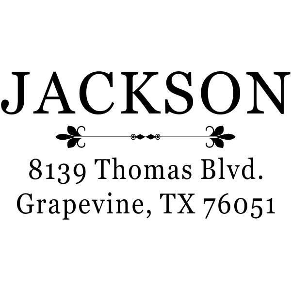Jackson Deco Rubber Address Stamp