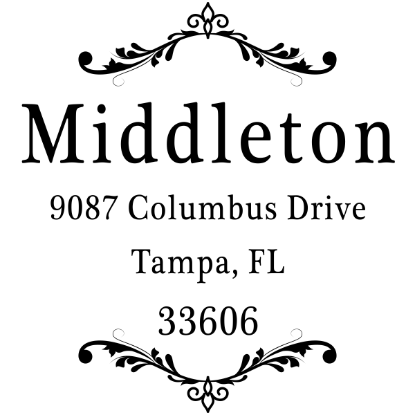 Middleton Vintage Deco Address Stamp