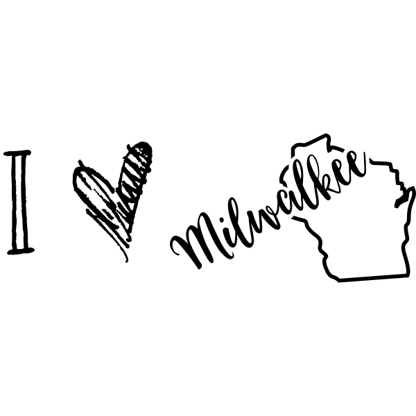 I Love Wisconsin Rubber Stamp