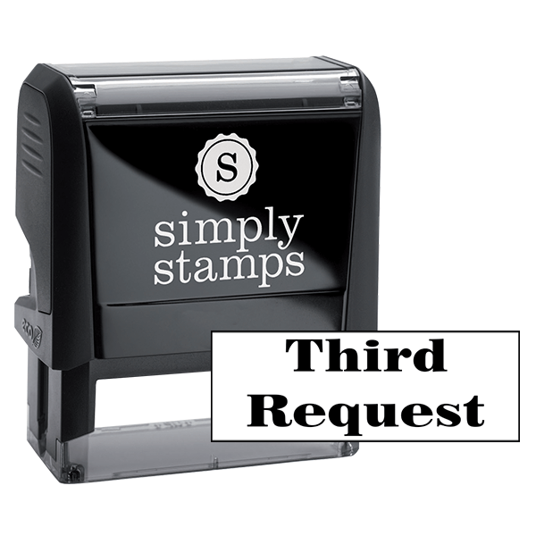 Third Request Office Stock Stamp