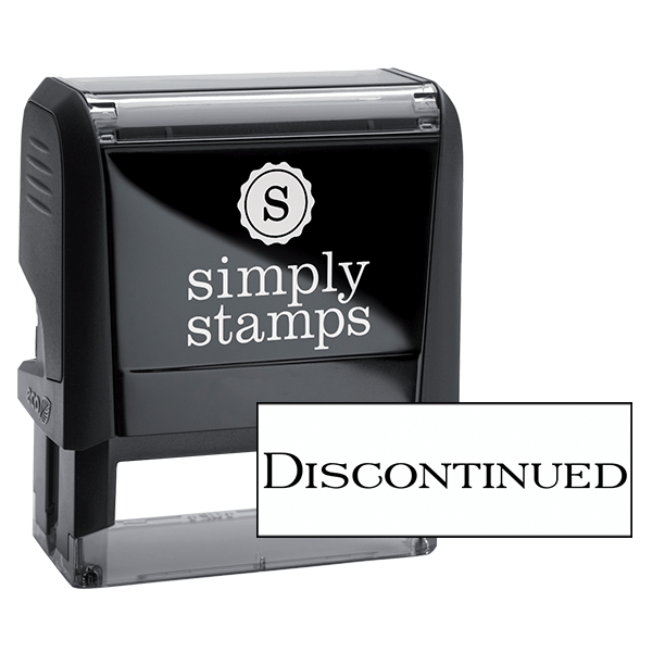 Discontinued Office Stock Stamp