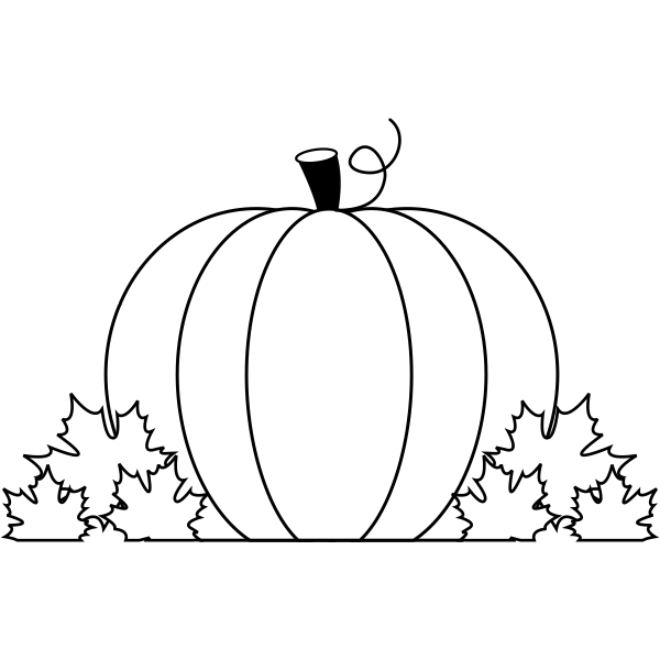Pumpkin and Leaves Craft Stamp