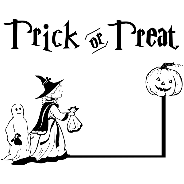 Trick or Treaters Craft Stamp