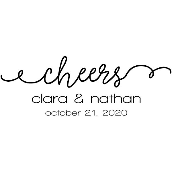 Cheers Wedding Date Rubber Stamp