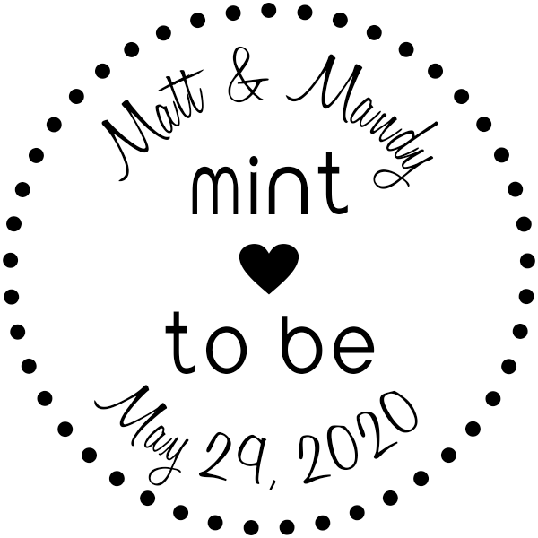Mint to Be Wedding Stamp