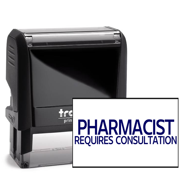 Pharmacist Requires Consultation Rubber Stamp