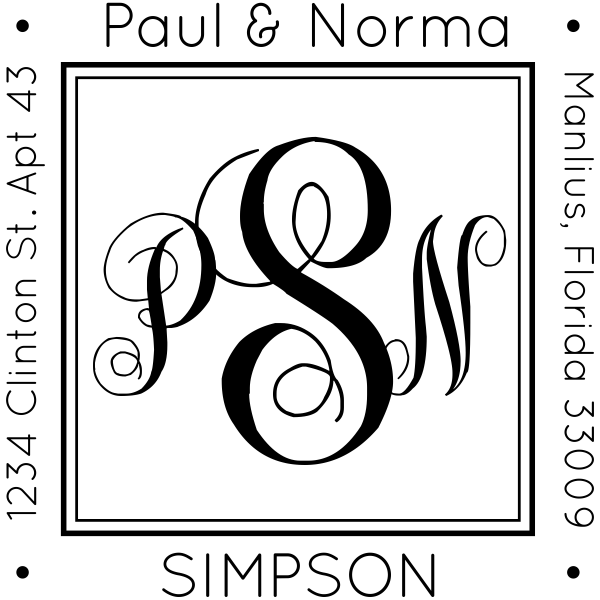 Simpson Square Address Stamp