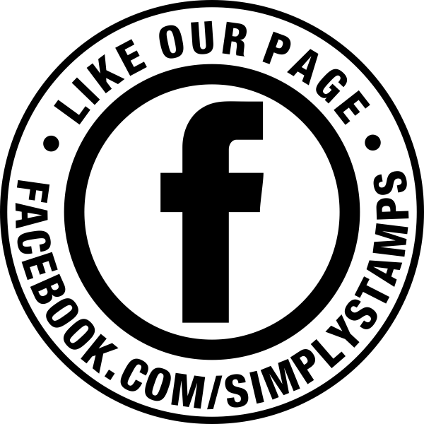 Like Our Facebook Page Round Stamp