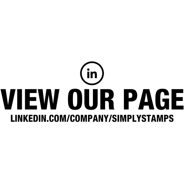 View Our Linked In Page URL Stamp