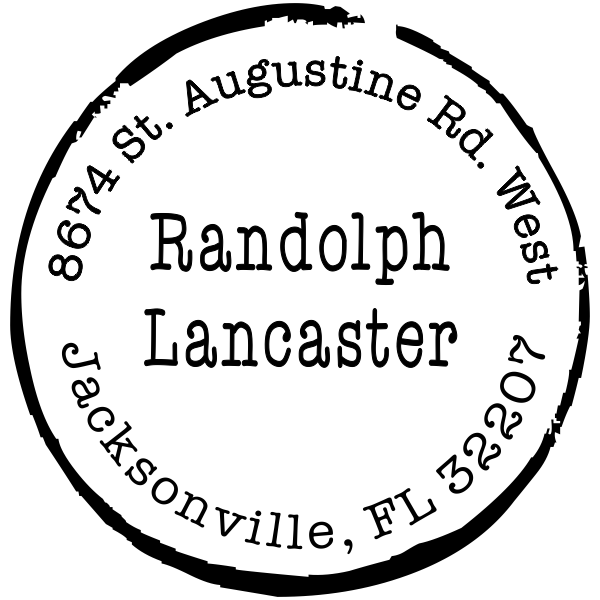 Lancaster Border Custom Address Stamper