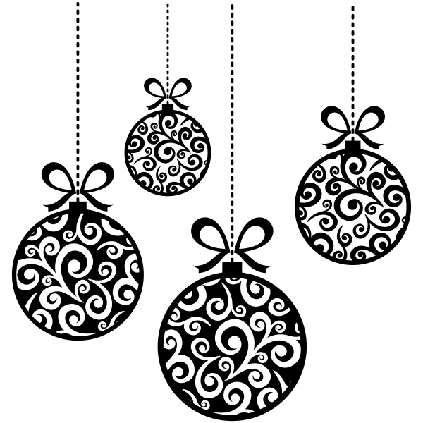 Hanging Christmas Ornaments Craft Stamp