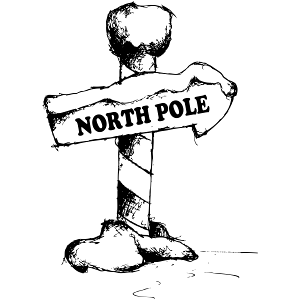 North Pole Sign Craft Stamp