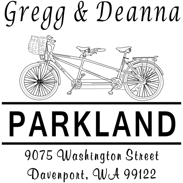 Bicycle Built for Two Address Stamp