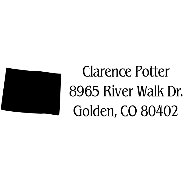 Colorado Return Address Stamp