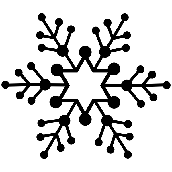 Dotted Branch Snowflake Craft Stamp