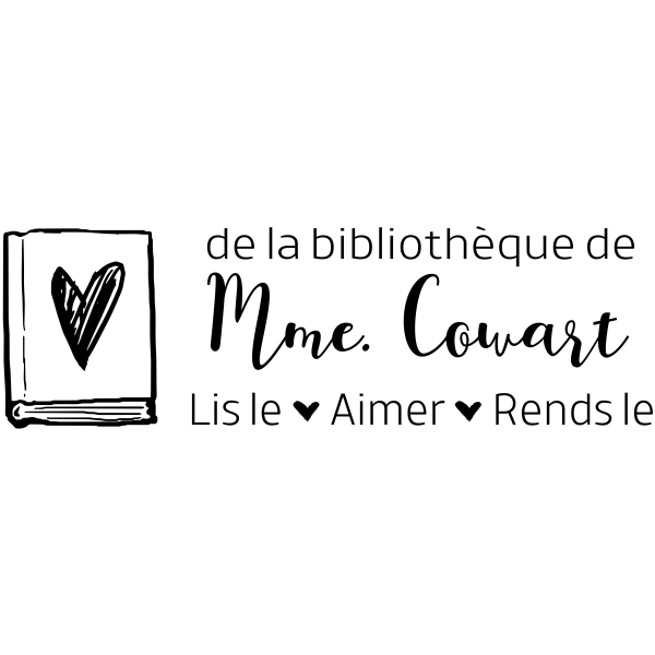 French Teacher Library Stamp