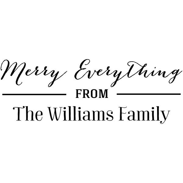 Merry Everything Rubber Stamp