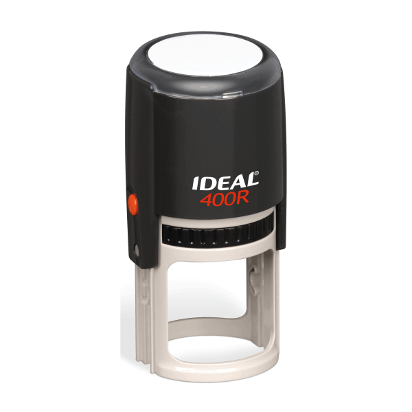 Ideal by Trodat 400R Round Stamp with Black Ink