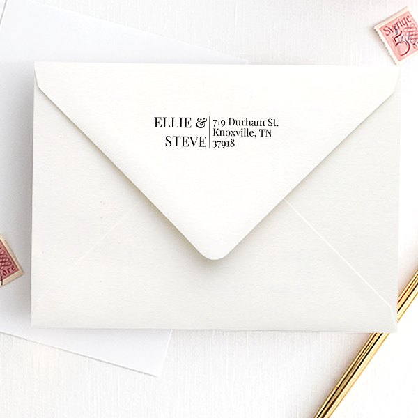 Modern His and Hers Address Stamp