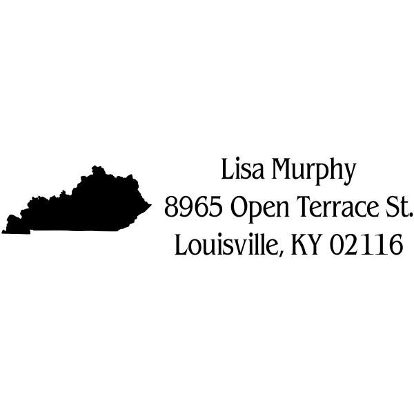 Kentucky Return Address Stamp