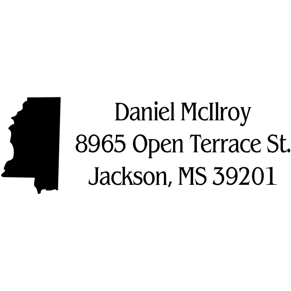 Mississippi Return Address Stamp