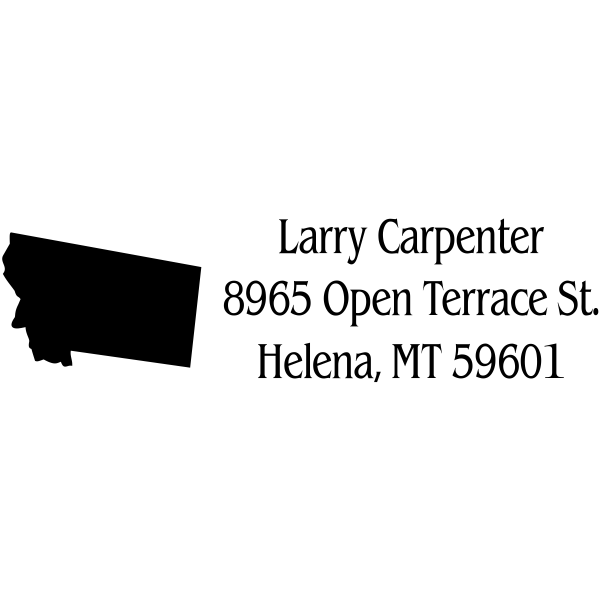 Montana Return Address Stamp