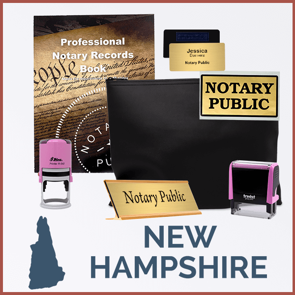 New Hampshire Pink Deluxe Notary Kit