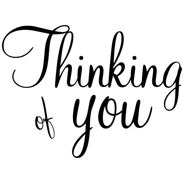 Thinking of you Craft Stamp