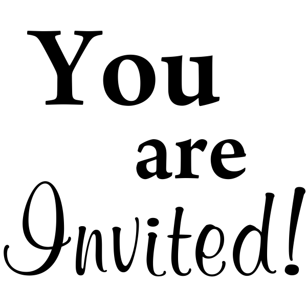 You are Invited! Craft Stamp