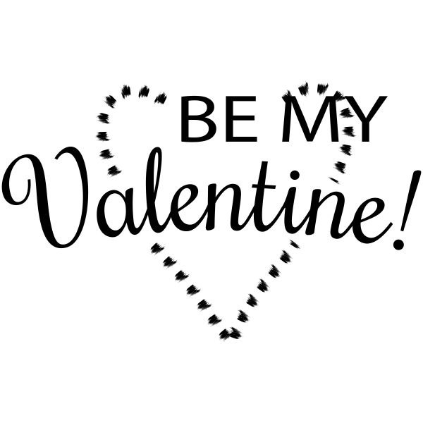 Be My Valentine Heart Craft Stamp