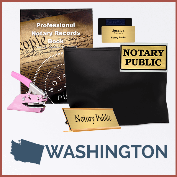 Washington Pink Deluxe Notary Kit