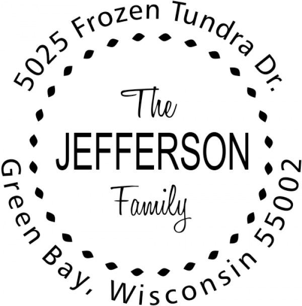 Jefferson Family Deco Border Address Stamp