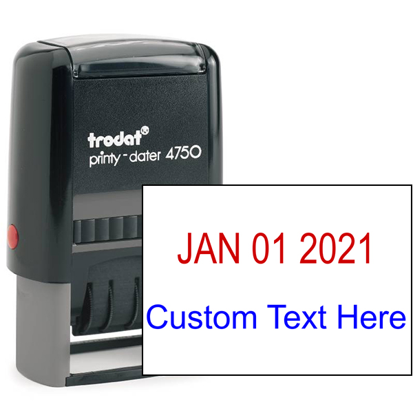 Self-Inking Dater Stamp with Custom Text