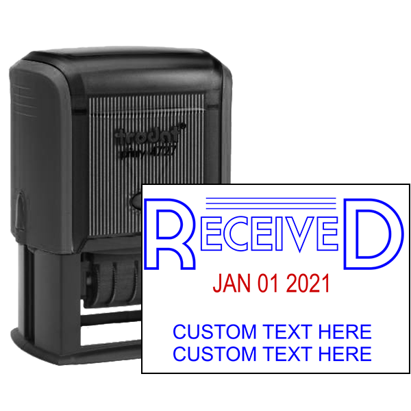 Received Custom Date Stamp