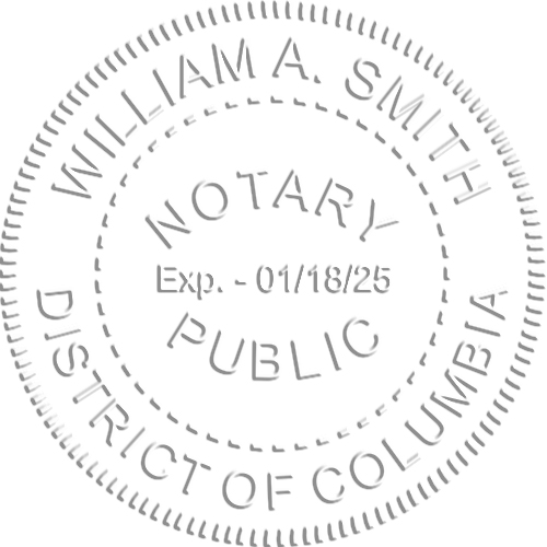 District of Columbia Notary Embossed Impression