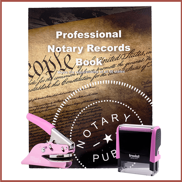 Delaware Pink Value Notary Kit