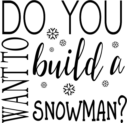 Do You Want to Build a Snowman Craft Stamp