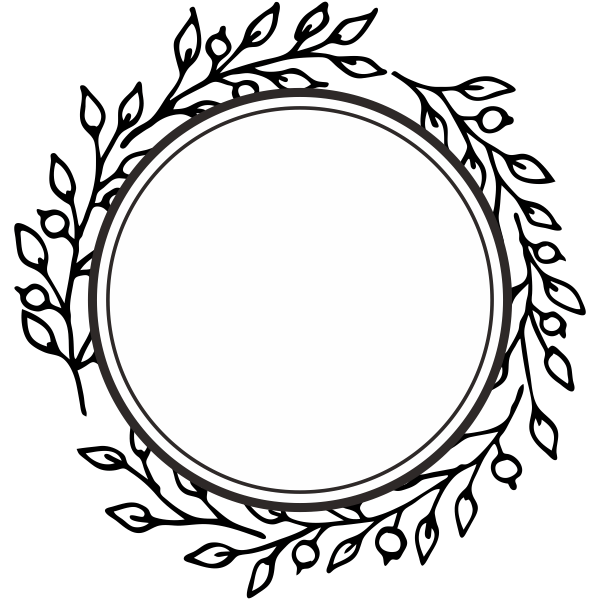 Framed Wreath Stamp