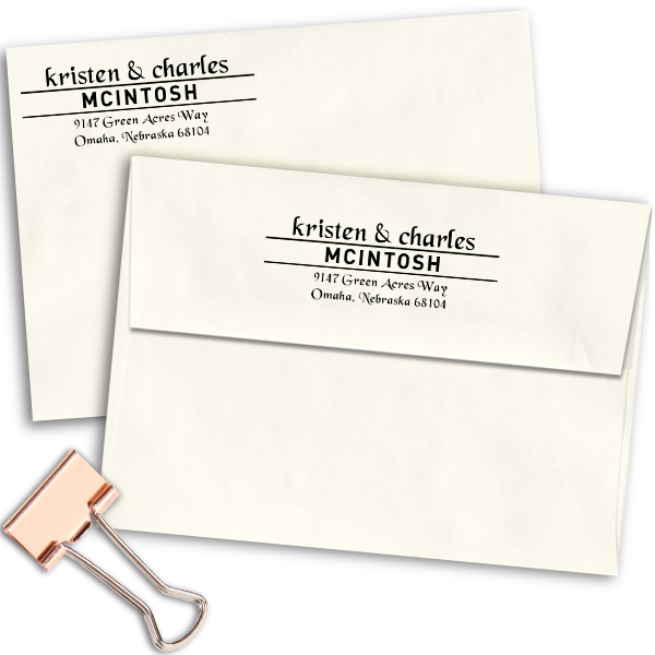 Mcintosh Handwritten Address Stamp Imprint Examples on Envelopes