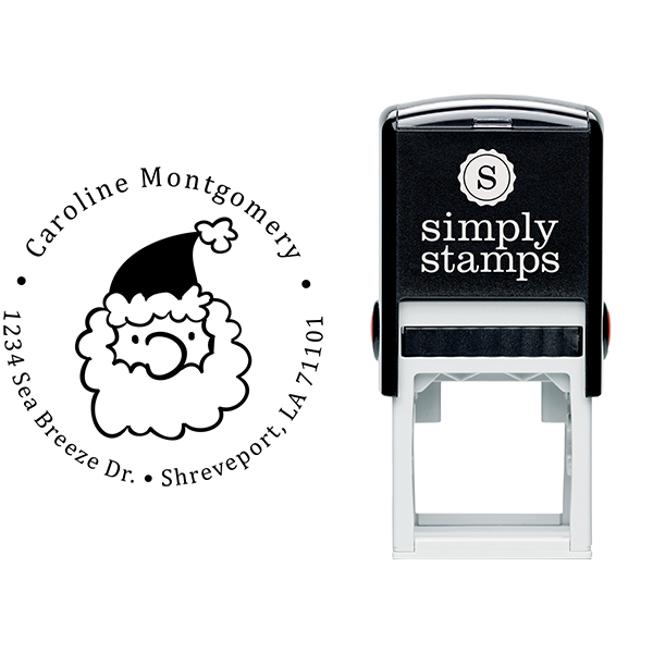 Montgomery Santa Claus Return Address Stamp Body and Imprint