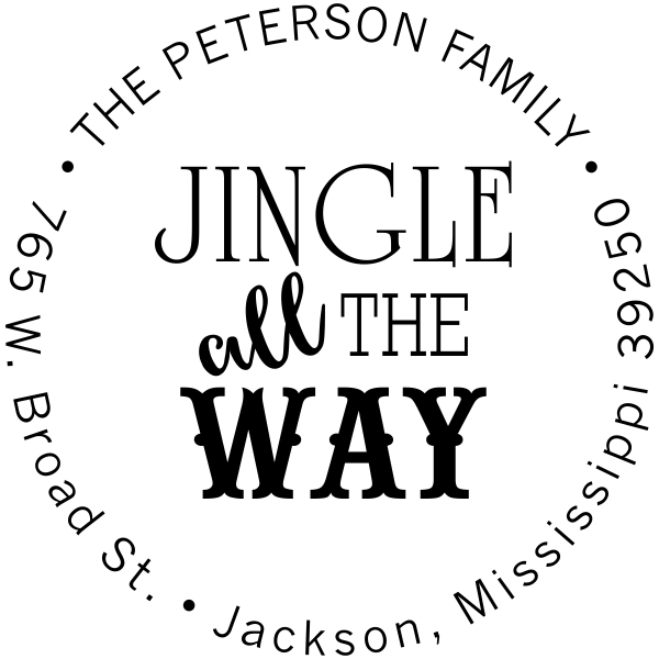 Jingle All The Way Return Address Stamp