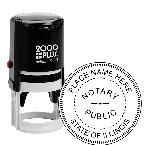 Illinois Notary Public Seal Round Stamp