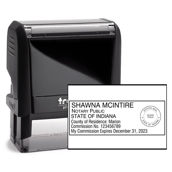 Indiana Notary Rectangle Stamp