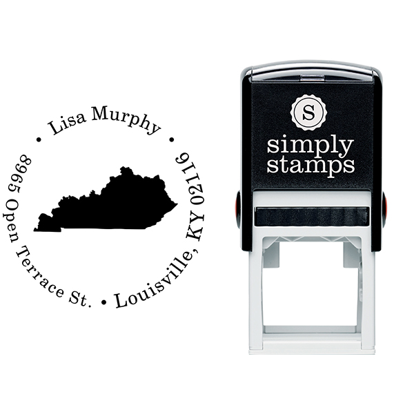Kentucky Round Address Stamp Body and Design