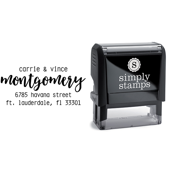 Montgomery Trendy Address Stamp Body and Design