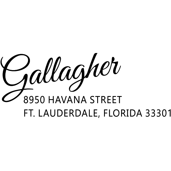 Gallagher Drive-In Trendy Address Stamp